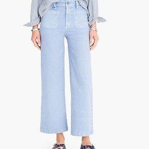 Blue J.Crew Point Sur Wide Leg Crop Pants Size 26